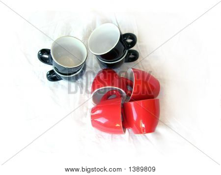 Eight Coffee Cups