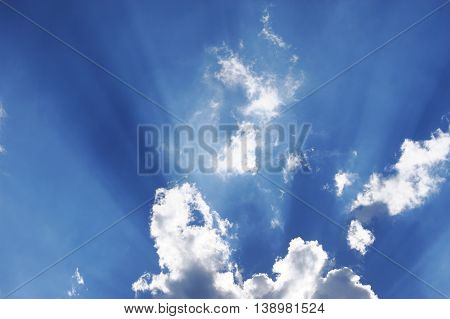sunbeam from behind the cloud for design