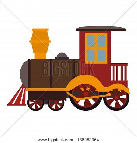 train kid toy , black and white isolated flat icon