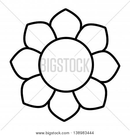 Flower floral petal, isolated flat icon design.