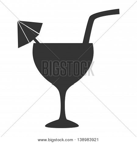 Cocktail cup straw, isolated flat icon design