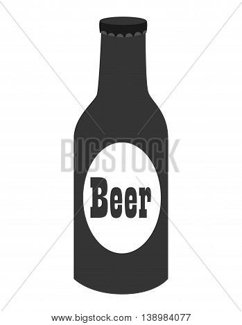 Cold beer bottle, isolated flat icon ndesign