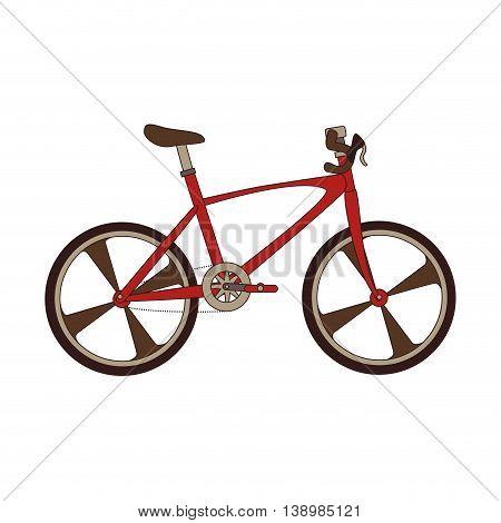 Bike transport vehicle, isolated flat icon design.