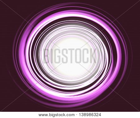Abstract background with luminous swirling backdrop. Intersection curves. Glowing spiral. red, pink