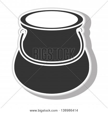 Jug glass , isolated black and white flat icon design