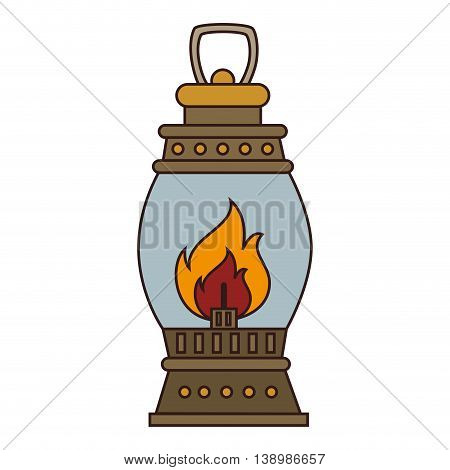 lantern torch lamp, isolated colorful icon design vector illustration