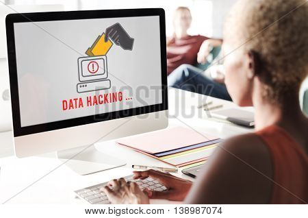 Hacker Spyware Cybercrime Phishing Fraud Concept