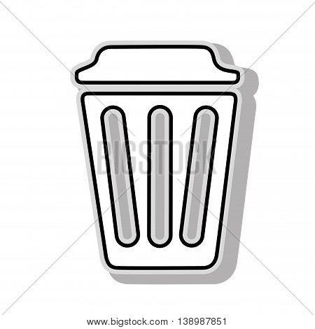 trash can delete, isolated flat icon design.