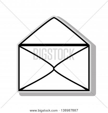 Electronic mail or mailing symbol, isolated flat icon vector illustration graphic.