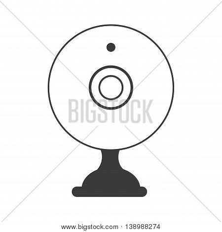 webcam chat device , isolated flat icon vector illustration