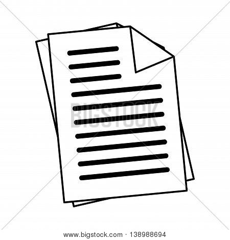 Office documents sheets, isolated flat icon design.