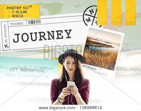 Trip Travel Destination Explore Tour Concept