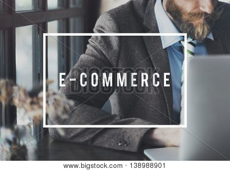 E-commerce Connecting Data Digital Email Web Concept