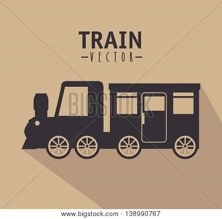 railroad train isolated icon design, vector illustration  graphic