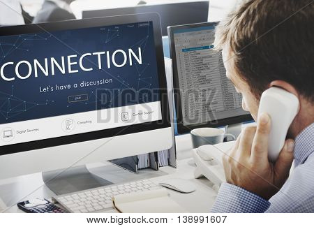 Connection Homepage Start Button Concept