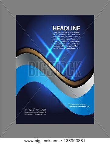 Flyer design background. blue Flyer or Cover Design - Business Vector