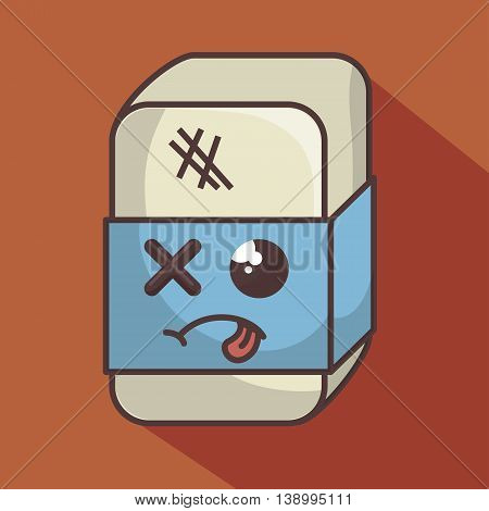 eraser funny character isolated icon design, vector illustration  graphic