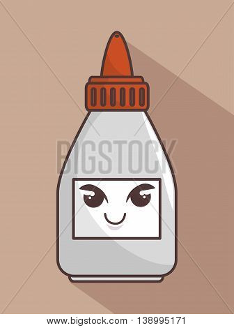 glue bottle funny character isolated icon design, vector illustration  graphic