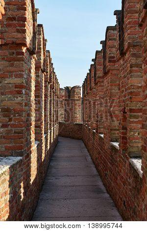 Wall In Castelvecchio Museum