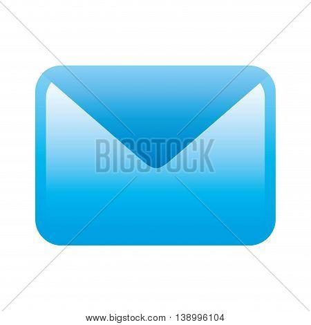 letter icon, message text and voicemail icon,  isolated vector illustration
