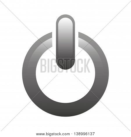 power icon, on and off button,  isolated vector illustration