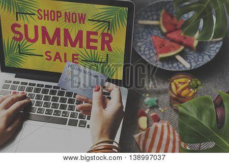 Summer Sale Announcement Advertising Consumer Concept