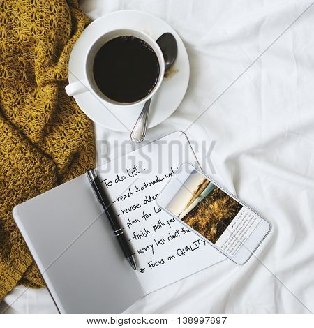 Coffee Chill Planning Relaxation Objective Rest Concept