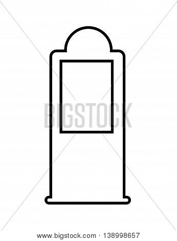 petrol pump,  isolated lineal vector  eps10 illustration