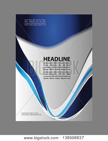 Green flyer background. Professional business flyer template or corporate banner