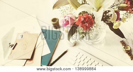 Desk Diary Decorate Minimalism Style Concept