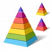 stock photo of pyramid shape  - Layered pyramids - JPG