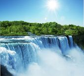 stock photo of waterfalls  - Niagara waterfall - JPG