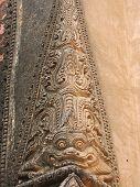 Detail Of Paya Architecture With A Dragon, Bagan, Myanmar poster