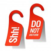 pic of shh  - Do Not Disturb sign - JPG