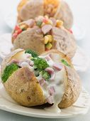 picture of baked potato  - Baked Potatoes with a Selection of Toppings - JPG