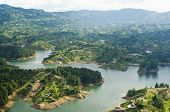 foto of medellin  - Aerial view of Guatape lake in Colombia - JPG