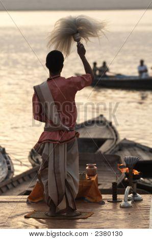 Priest At Varanasi