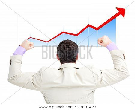 Successful Businessman With The Fists Up
