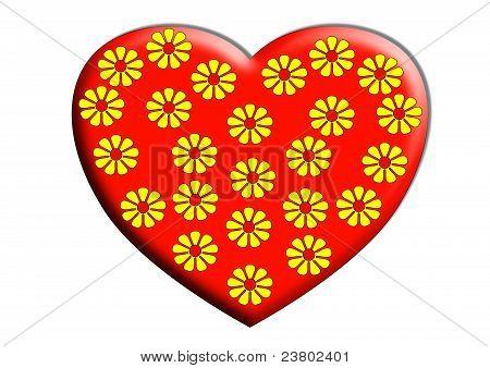 Heart shape and flowers