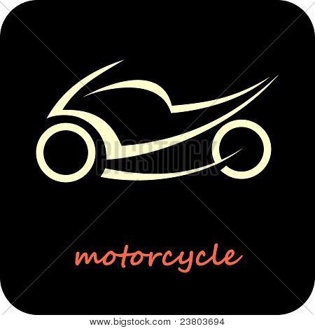 Motorcycle - Vector Icon