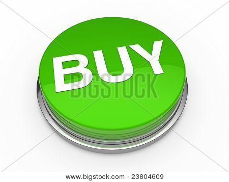 3D Button Buy Green