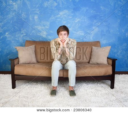 Teen On Couch