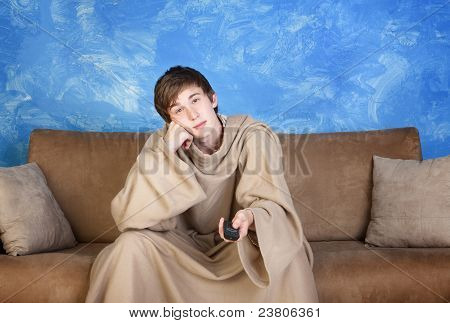Teen With Remote Control