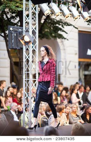 Prague-september 24: A Model Walks The Runway During The 2011 Autumn/winter Czech Designers Collecti