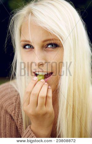 Eating A Grape