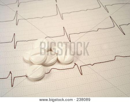 Píldoras en electrocardiograma