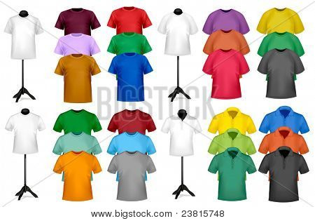 Color t-shirt design template. Vector illustration.