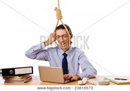 Empresário com pensamentos de suicídio