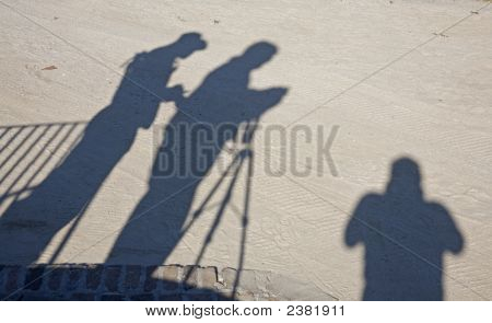Three Shadow Photographers