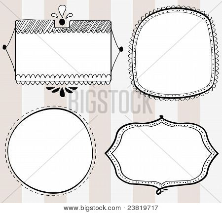 Decorative hand-drawn frames